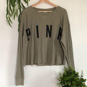 Victoria's Secret Pink olive green shirt